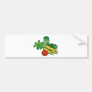 Stylized Vegetable Assortment Bumper Sticker