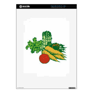 Stylized Vegetable Assortment Skins For The iPad 2