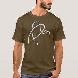 Men's Basic Dark T-Shirt with Stylized Vulture design
