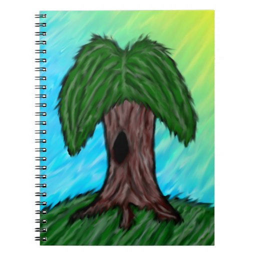 Stylized Willow Tree Notebook