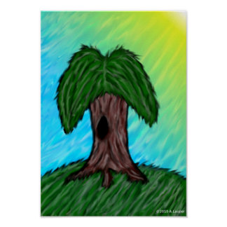 Stylized Willow Tree Poster