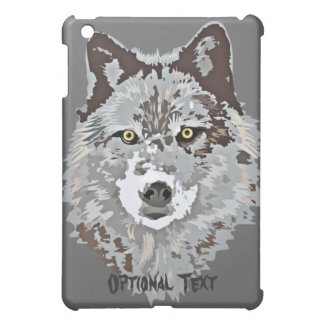 Stylized Wolf Head Cover For The iPad Mini
