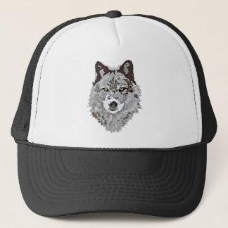 Stylized Wolf Head Trucker Hat