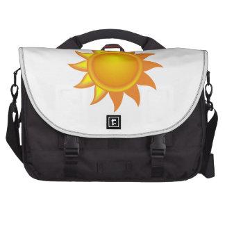 Stylized Yellow Sun Laptop Messenger Bag