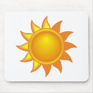 Stylized Yellow Sun Mouse Pad
