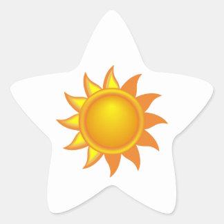 Stylized Yellow Sun Star Stickers