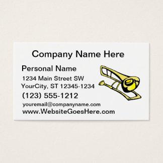 stylized yellow trombone graphic image business card