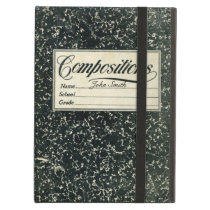 Stylsih Vintage School Composition Book iPad Air Cover