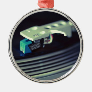Stylus On Record Metal Ornament