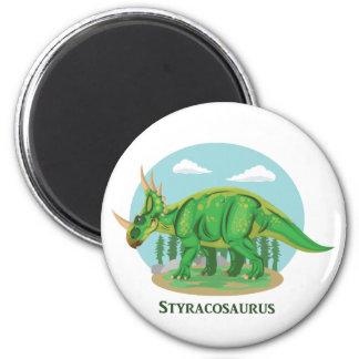 Styracosaurus 2 Inch Round Magnet