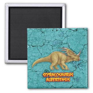 Styracosaurus 2 Inch Square Magnet