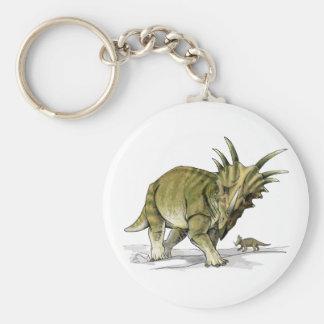 Styracosaurus Basic Round Button Keychain