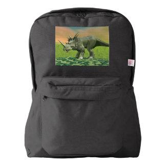 Styracosaurus dinosaur - 3D render American Apparel™ Backpack