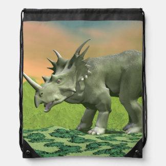 Styracosaurus dinosaur - 3D render Drawstring Bag
