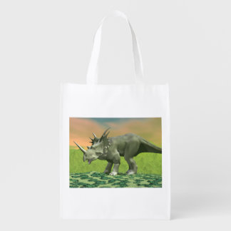 Styracosaurus dinosaur - 3D render Grocery Bag