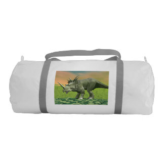 Styracosaurus dinosaur - 3D render Gym Bag