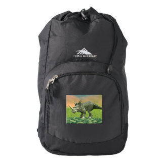 Styracosaurus dinosaur - 3D render High Sierra Backpack