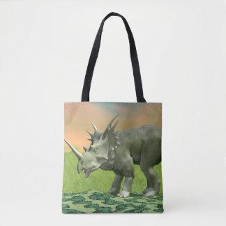 Styracosaurus dinosaur - 3D render Tote Bag