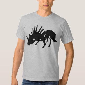 Styracosaurus DInosaur Skeleton Black T Shirts