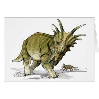 Styracosaurus - dinosaurio de Cretacous Felicitación