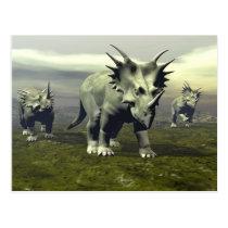 Styracosaurus dinosaurs - 3D render Postcard