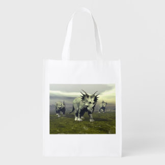 Styracosaurus dinosaurs - 3D render Reusable Grocery Bag