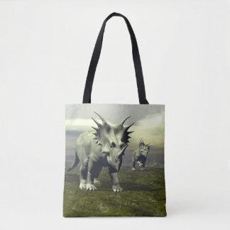 Styracosaurus dinosaurs - 3D render Tote Bag