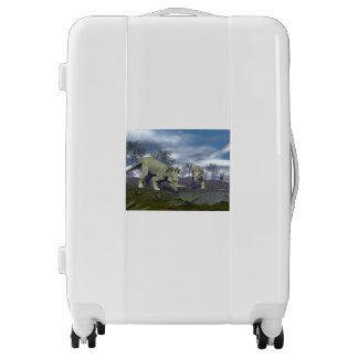 Styracosaurus dinosaurs going to water - 3D render Luggage