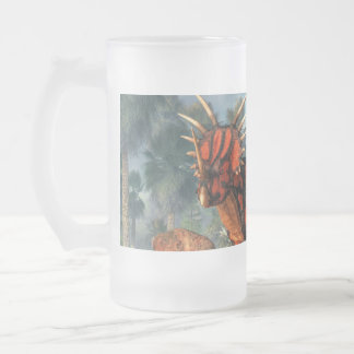 Styracosaurus Frosted Glass Beer Mug