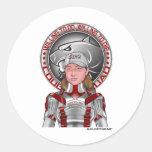 Styreena & Cougar Squad Motto Round Sticker