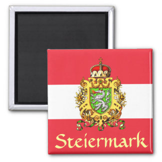 Styria (Austria) Coat of Arms 2 Inch Square Magnet