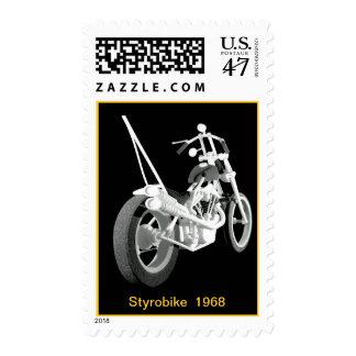 Styrofoam Motorcycle (chopper) Postage Stamp