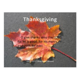Su 107 1 del salmo de la acción de gracias de Endu Postal