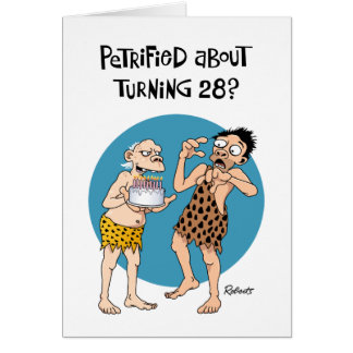 Su 28vo cuarto cumpleaños tarjeta de felicitación