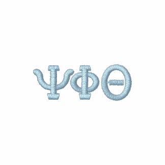 Su alfabeto griego de la letra de las iniciales cr camiseta polo bordada