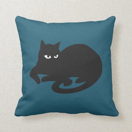 Su almohada de tiro azul
