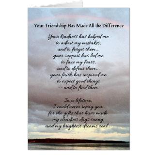 Su amistad… tarjeta de felicitación