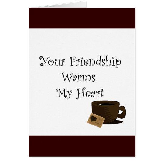 Su amistad tarjeta de felicitación