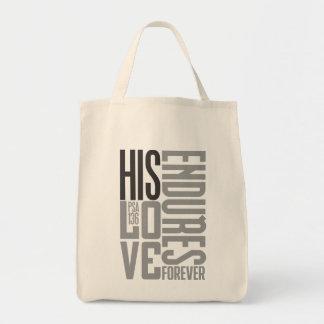Su amor aguanta bolsa tela para la compra