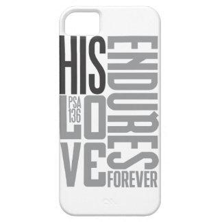 Su amor aguanta para siempre el caso de iPhone 5 fundas