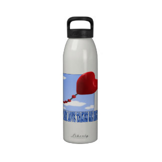 Su amor me toma alto botella de agua