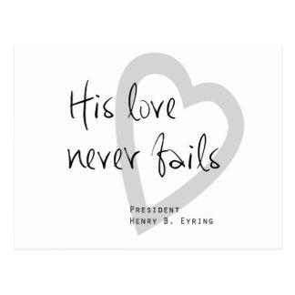 su amor nunca falla cita eyring de los lds del tarjetas postales
