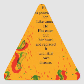 su amor pegatina triangular