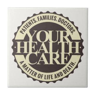 Su atención sanitaria azulejo cuadrado pequeño