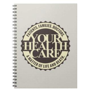 Su atención sanitaria libro de apuntes con espiral