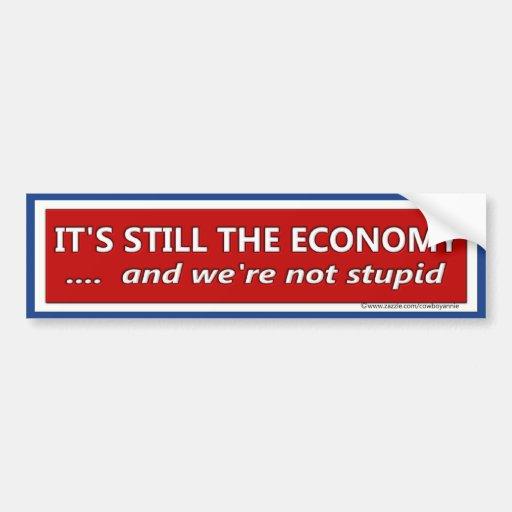 Su aún la sátira política de la economía pegatina para coche