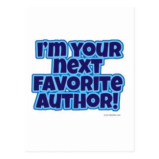 Su autor preferido siguiente postal