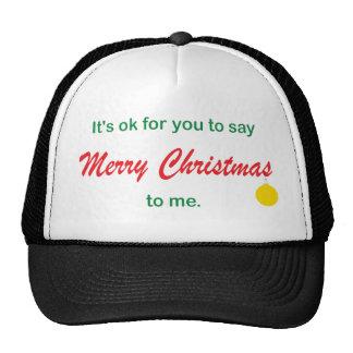 Su AUTORIZACIÓN para decir Felices Navidad Gorras