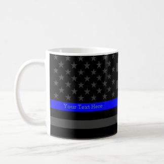 Su bandera negra fina de Blue Line los E.E.U.U. Taza Clásica