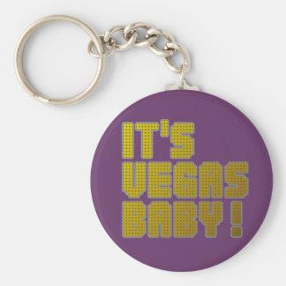 ¡Su bebé de Vegas! Llavero Redondo Tipo Pin